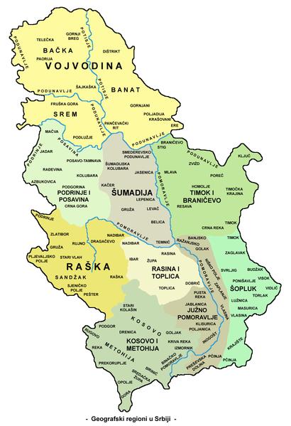 Geografski polozaj Srbije