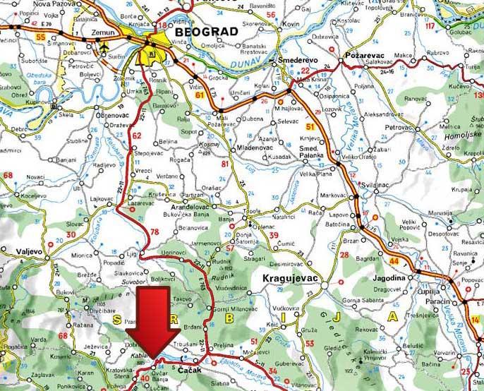 mapa srbije ljig Ovčar Banja | Banje u Srbiji mapa srbije ljig