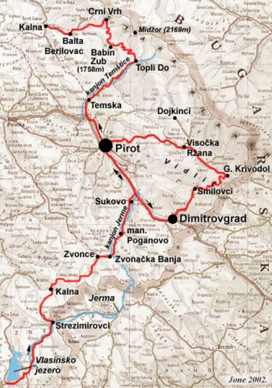 Stara Planina Mapa Srbije Superjoden